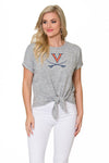 Virginia Cavaliers Marnie Tie Front Top