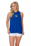 Pitt Panthers Womens High Neck Tank - Royal Blue