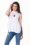 South Carolina Gamecocks High Neck Tank - White