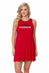 Arkansas Razorbacks Womens Tent Dress - Crimson