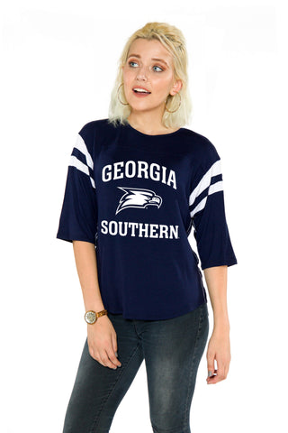 Georgia Southern Eagles Womens Jersey - Navy