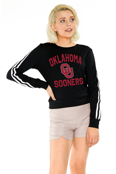Oklahoma Sooners Womens Long Sleeve Top - Black