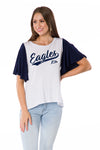 Georgia Southern Eagles Womens Flutter Sleeve Baseball Tee