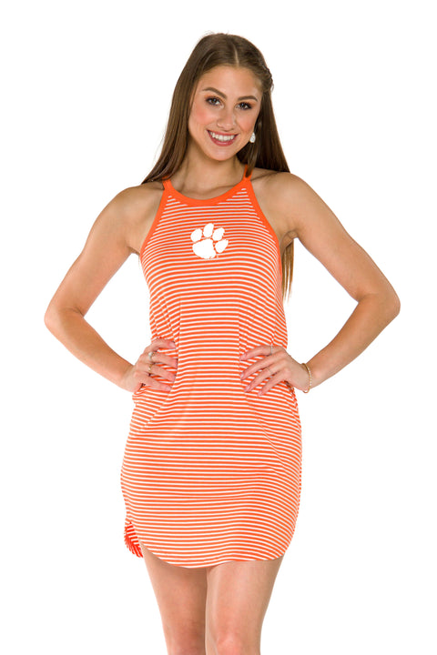 Clemson Tigers Sadie Striped Dress
