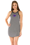 Kansas State Wildcats Sadie Striped Dress