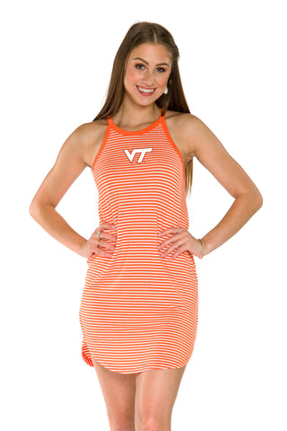 Virginia Tech Hokies Sadie Striped Dress