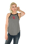 Oklahoma Sooners Womens Striped Tank - Black