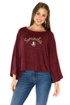 Florida State Seminoles Womens Kimono Sleeve Top - Maroon