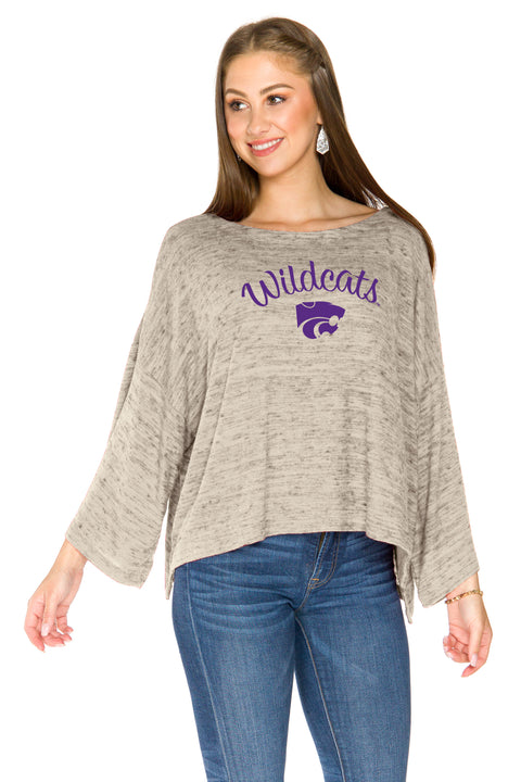 Kansas State Wildcats Womens Kimono Sleeve Top - Sand