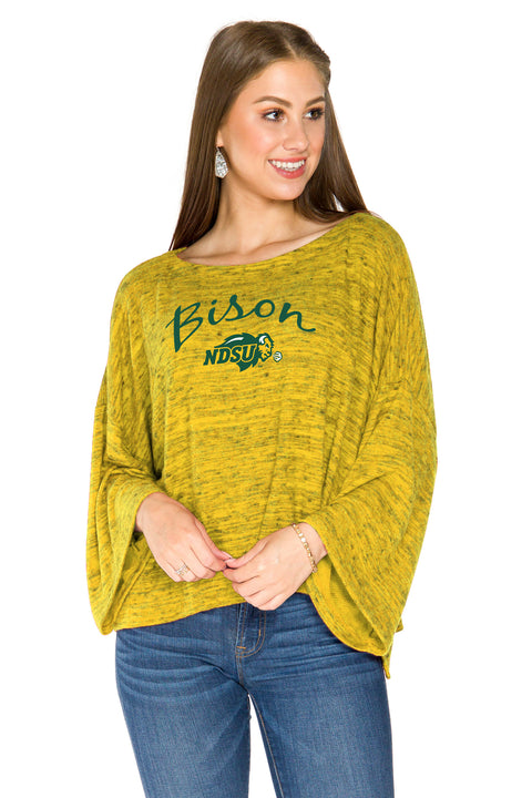 North Dakota State Bison Womens Kimono Sleeve Top - Gold