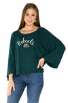 Ohio Bobcats Womens Kimono Sleeve Top - Hunter Green