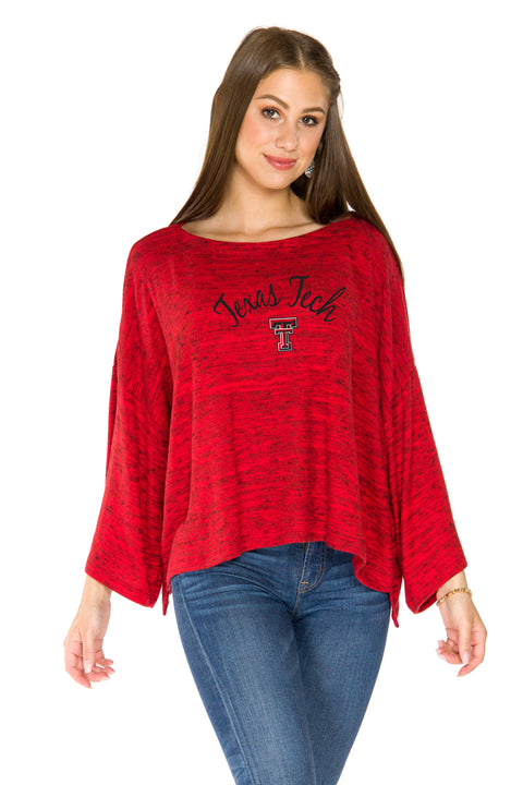 Texas Tech Red Raiders Womens Kimono Sleeve Top - Red