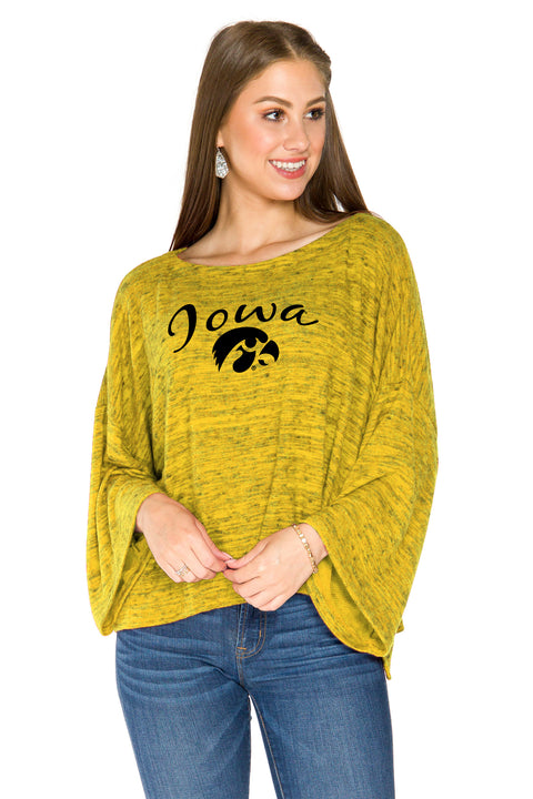 Iowa Hawkeyes Womens Kimono Sleeve Top - Gold
