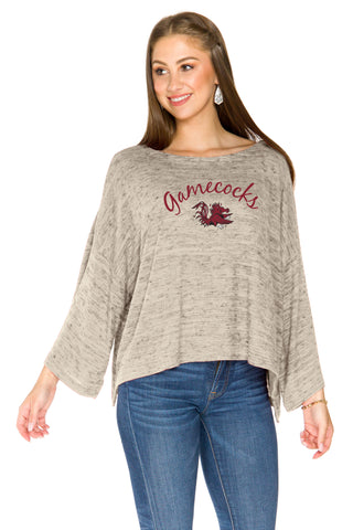 South Carolina Gamecocks Womens Kimono Sleeve Top - Sand