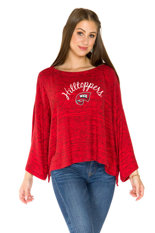 Western Kentucky Hilltoppers Womens Kimono Sleeve Top - Red