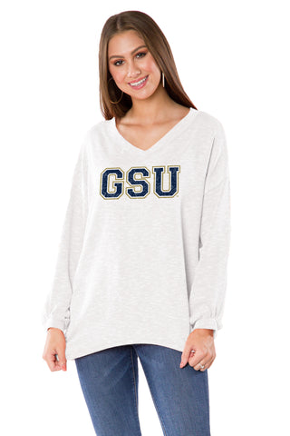 Georgia Southern Eagles Womens Ribbed V-Neck - White