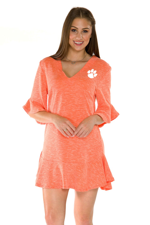 Clemson Tiders Syd Ruffle Dress