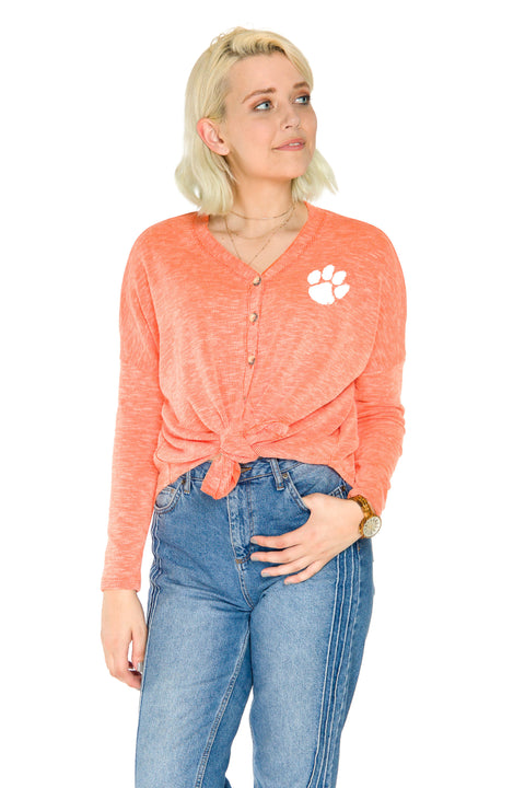 Clemson Tigers Hazel Button Front