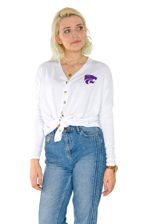 Kansas State Wildcats Hazel Button Front
