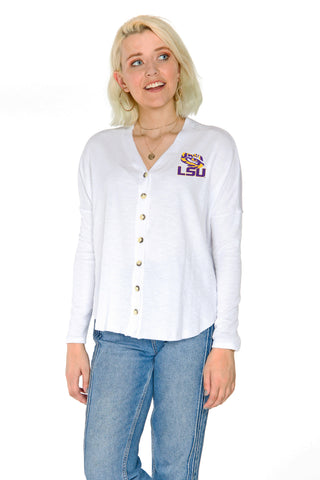 LSU Tigers Hazel Button Front
