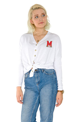 Maryland Terrapins Hazel Button Front