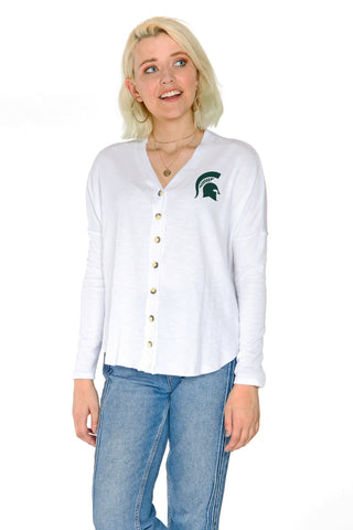 Michigan State Spartans Hazel Button Front