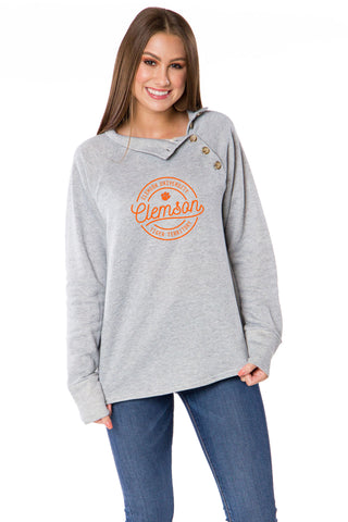 Clemson Tigers Mariah Button Pullover
