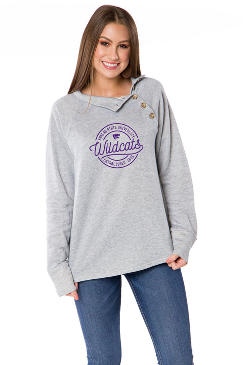 Kansas State Wildcats Mariah Button Pullover