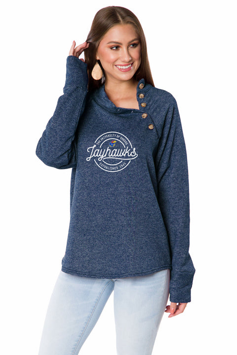 Kansas Jayhawks Button Pullover