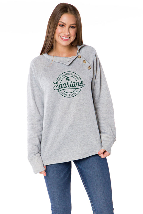 Michigan State Spartans Mariah Button Pullover