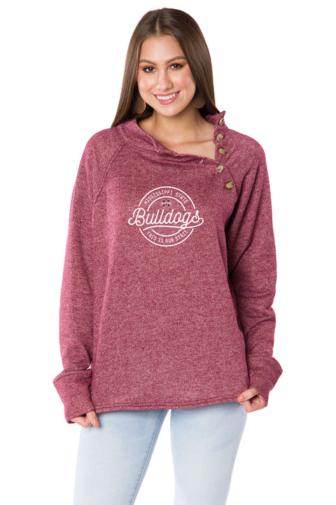 Mississippi State Bulldogs Mariah Button Pullover