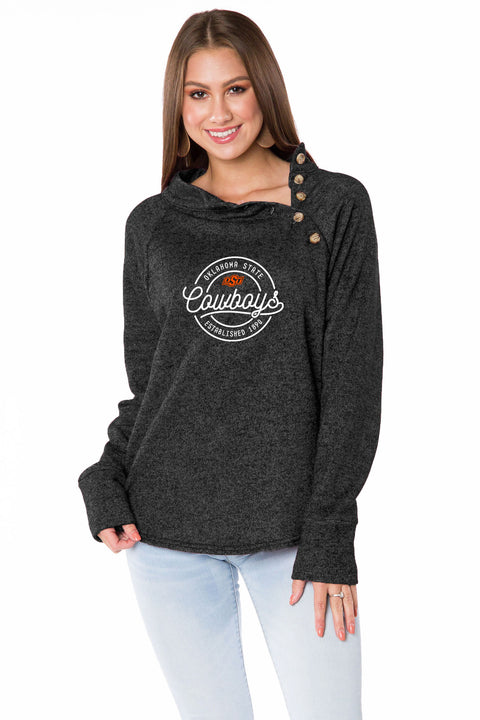 Oklahoma State Cowboys Mariah Button Pullover
