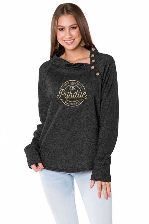 Purdue Boilermakers Mariah Button Pullover