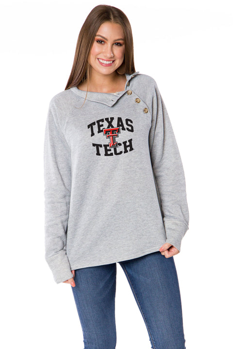 Texas Tech Red Raiders Mariah Button Pullover