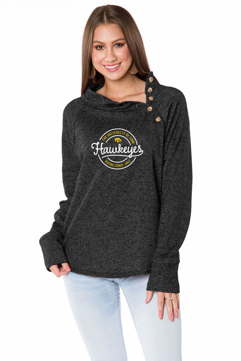 Iowa Hawkeyes Mariah Button Pullover