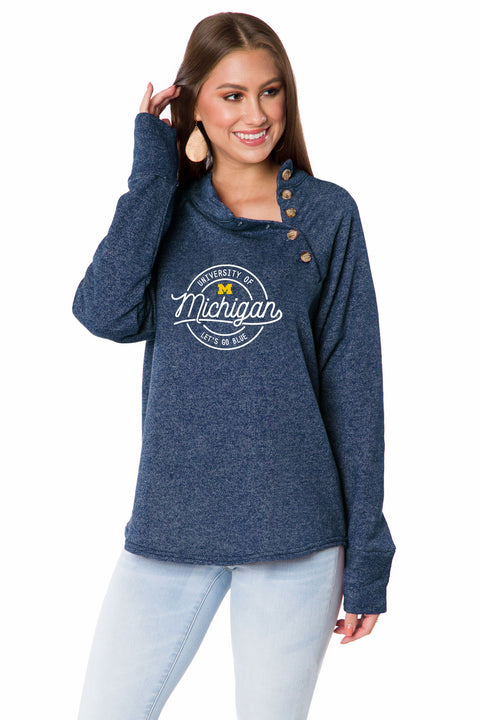 Michigan Wolverines Mariah Button Pullover
