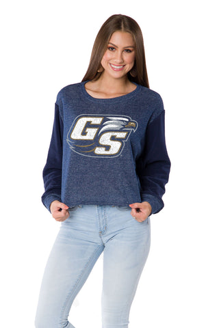 Georgia Southern Eagles Womens Long Sleeve Crop Top