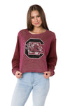 South Carolina Gamecocks Womens Cropped Hookie - Garnet