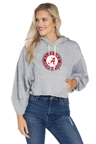 Alabama Crimson Tide Cropped Hoodie - Heather
