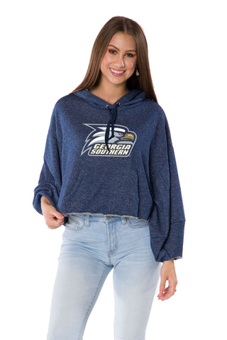 Georgia Southern Eagles Womens Cropped Hoodie - Navy
