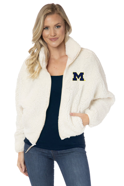 Michigan Wolverines Paige Plush Jacket