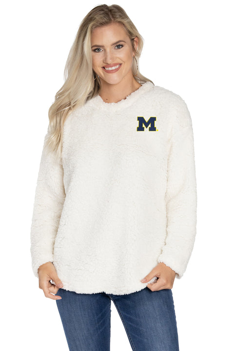 Michigan Wolverines Andrea Plush Pullover