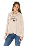 Texas State Bobcats Thermal Knit Cowl Neck Top - Oatmeal