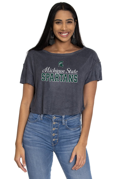 Michigan State Spartans April Velour Tee
