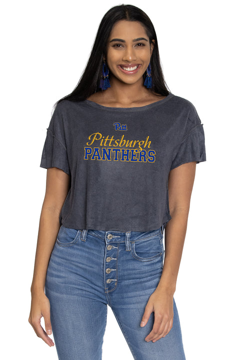 Pitt Panthers April Velour Tee