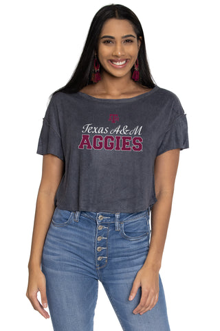 Texas A&M Aggies April Velour Tee