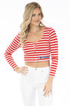 Arizona Wildcats Jayme Striped Crop