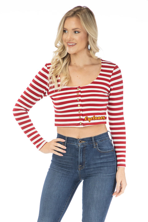 Iowa State Cyclones Jayme Striped Crop