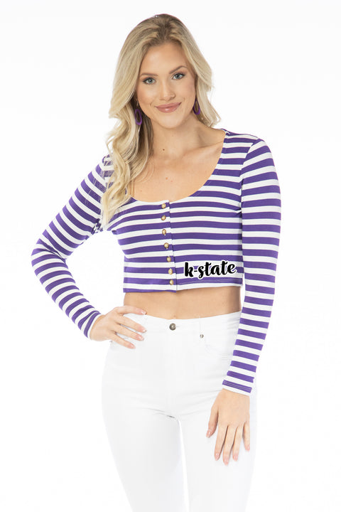 Kansas State Wildcats Jayme Striped Crop