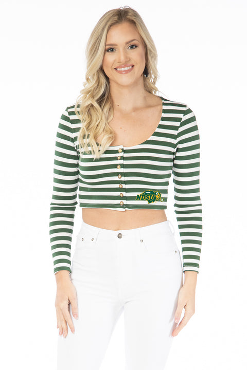 North Dakota State Jayme Bison Striped Crop